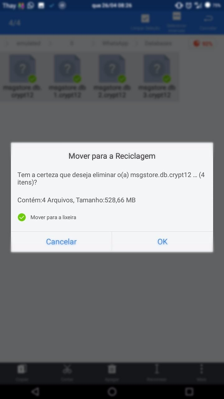 Como apagar Backups antigos do Whatsapp