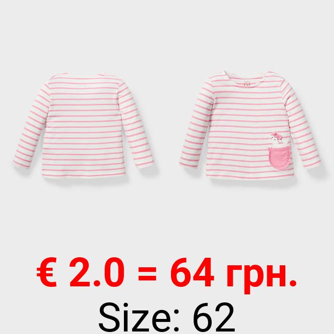 Baby-Langarmshirt - Bio-Baumwolle - gestreift