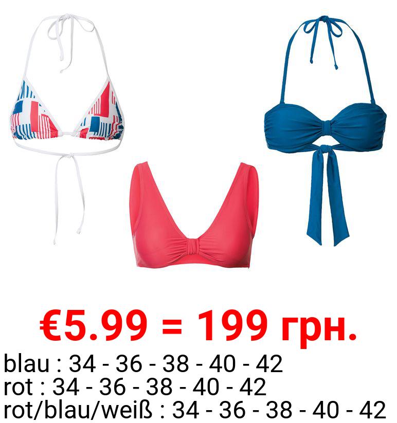ESMARA® Bikinioberteil Damen, voll gefüttert