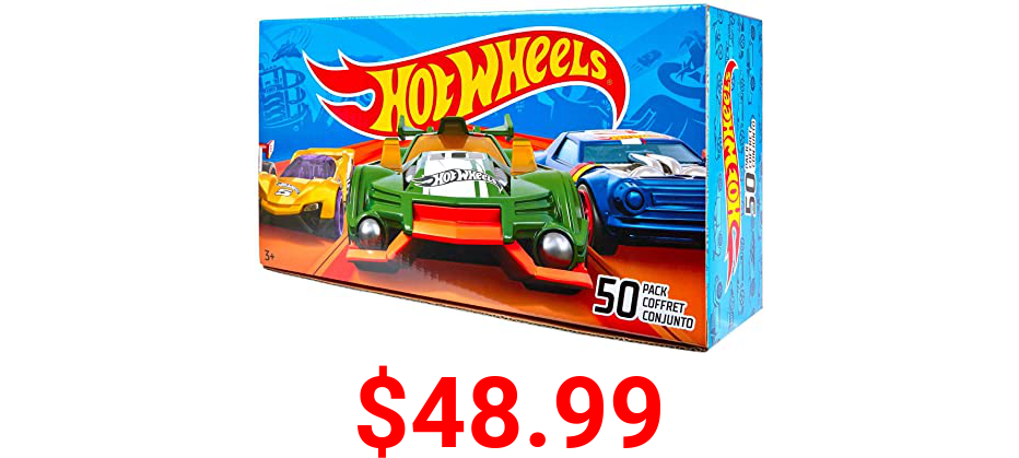 Hot Wheels Basic Car 50-Pack [Amazon Exclusive]
