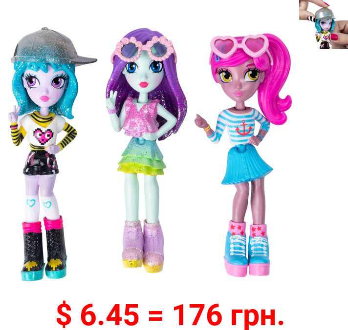 Off The Hook Style Doll 3-Pack, 4-inch Small Dolls with Mix and Match Fashions and Accessories, for Girls Aged 5 and Up, Exclusively at Amazon (Styles May Vary)