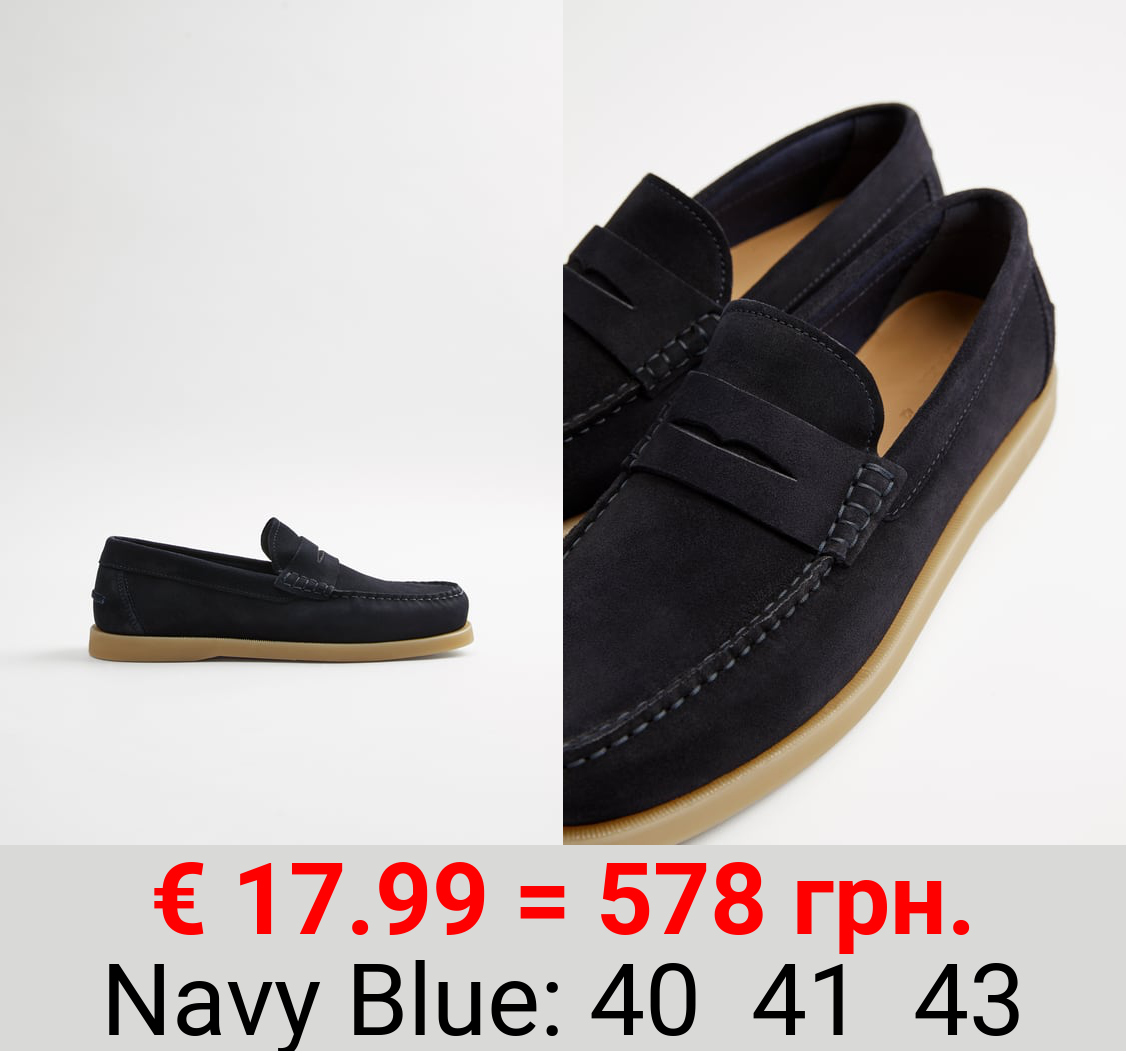 SPORTY LEATHER LOAFERS