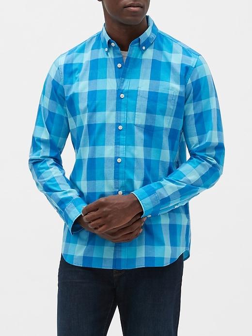 Poplin Long-Sleeve Shirt in Standard Fit