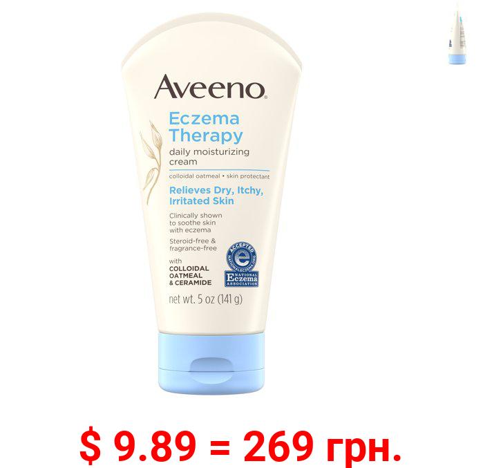 Aveeno Eczema Therapy Daily Moisturizing Cream with Oatmeal, 5 oz