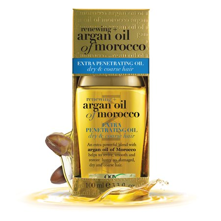 OGX Renewing Moroccan Argan Oil Extra Strength Penetrating Oil for Dry/Coarse Hair, 3.3 Ounce