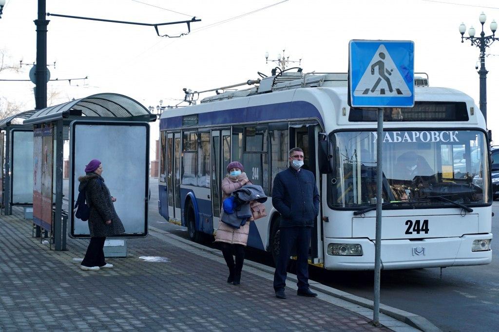 Очередная партия БУ-шных троллейбусов доставлена из Москвы в Хабаровск