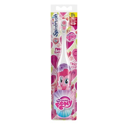 My Little Pony Arm & Hammer Kids Spinbrush, Soft, Electric Battery Toothbrush, 1 ct, Character May Vary