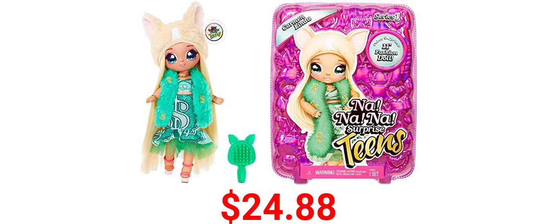"""MGA Entertainment Na Na Na Surprise Teens Fashion Doll – Carmen Linda, 11"""" Soft Fabric Doll, Chihuahua Inspired"""
