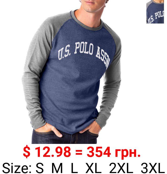 U.S. Polo Assn. Men's Raglan Sleeve Thermal Crew Tee