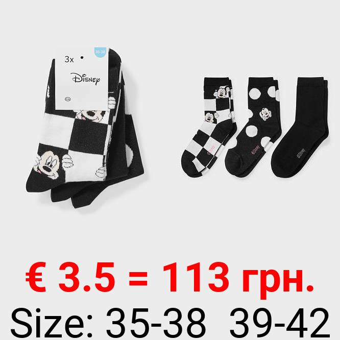 Socken - 3 Paar - Micky Maus