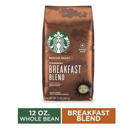 Starbucks Medium Roast Whole Bean Coffee — Breakfast Blend — 1 bag (12 oz.)