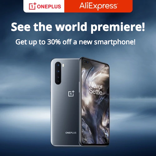 Featured brands-OnePlus  Get up to 30% off a new smartphone!