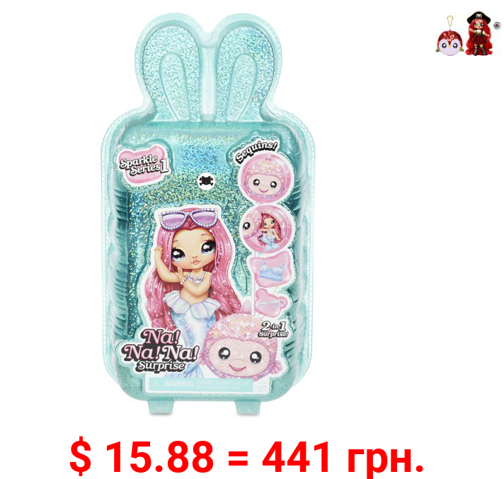 Na Na Na Surprise 2-in-1 Fashion Doll and Sparkly Sequined Purse Sparkle Series – 7.5