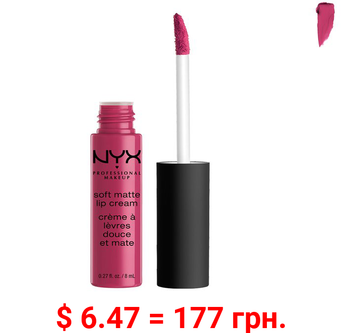 NYX Professional Makeup Soft Matte Lip Cream, lightweight liquid lipstick Prague, 0.8 Oz