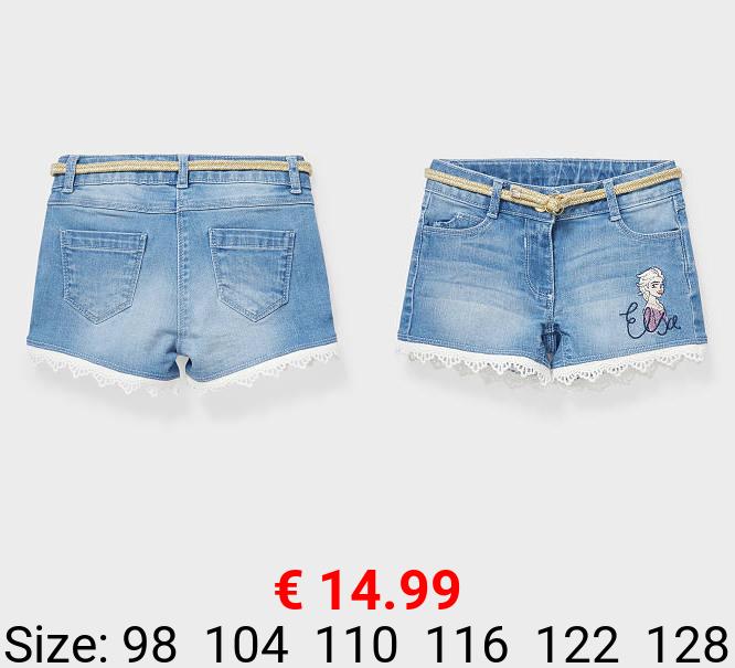 Die Eiskönigin - Jeans-Shorts mit Gürtel