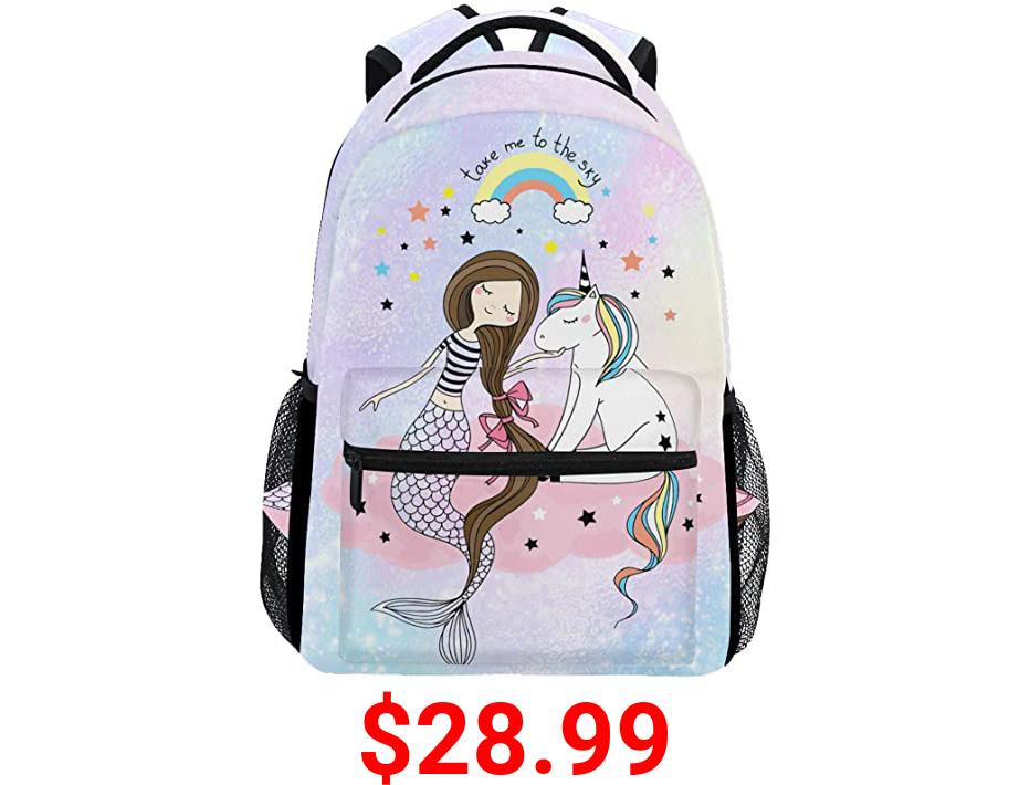 Wamika Mermaid Dab Unicorn Kids Backpack School Bookbags Girls Boys