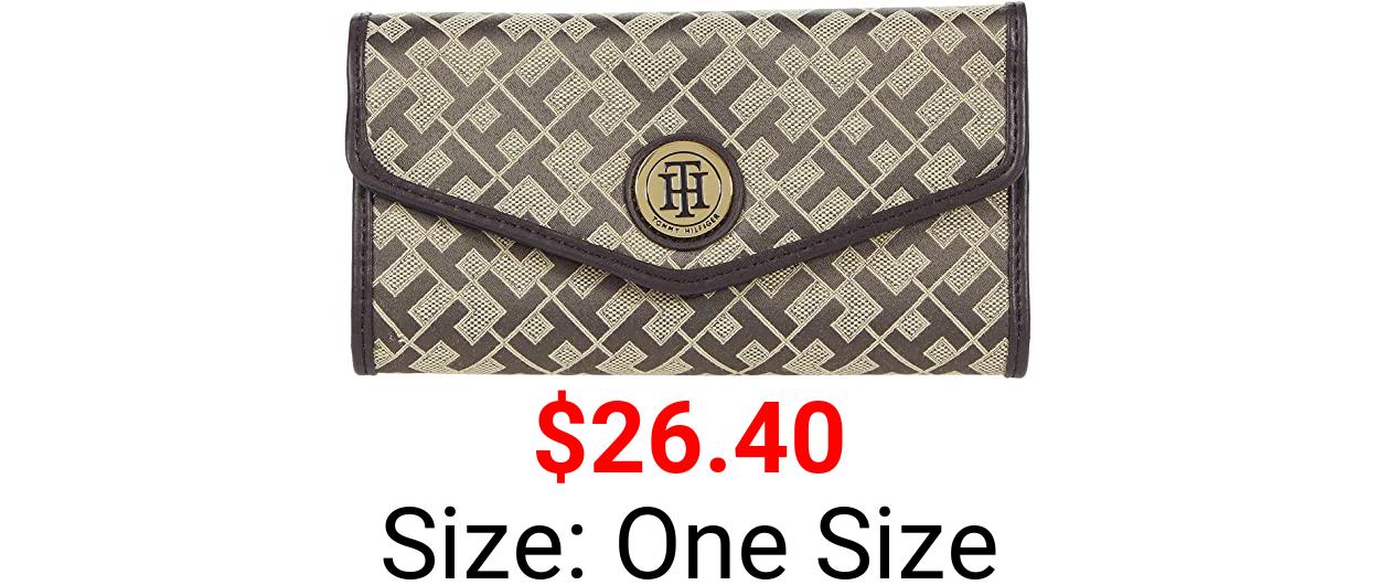 Tommy Hilfiger Large-Continental Envelope Wallet-Geometric Jacquard