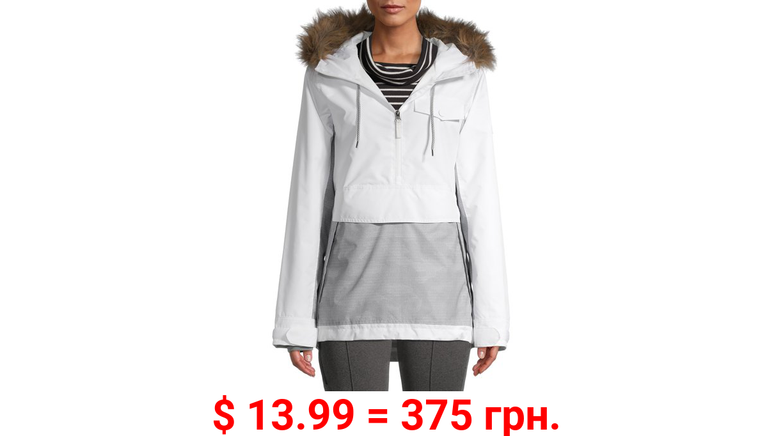 Swiss Tech Women's Pullover Jacket with Faux Fur