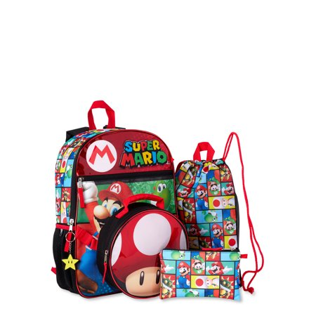 Super Mario 5 Piece Backpack Set