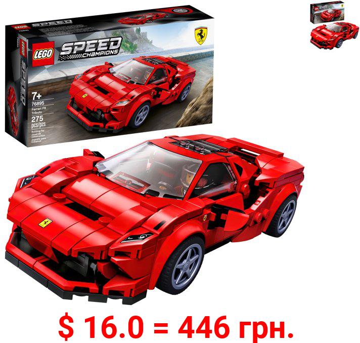 LEGO Speed Champions 76895 Ferrari F8 Tributo Racing Model Car, Vehicle Building Car (275 pieces)