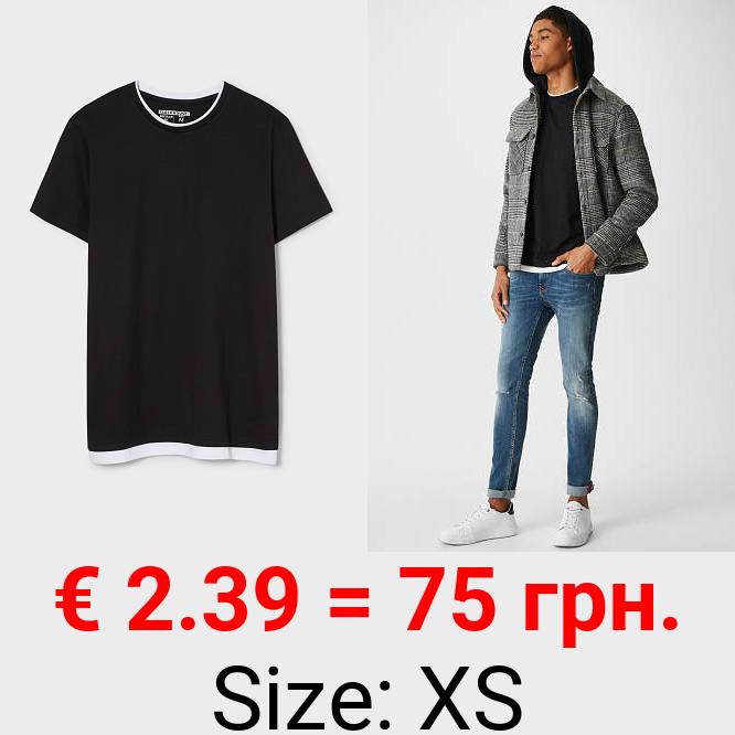 CLOCKHOUSE - T-Shirt - Bio-Baumwolle - 2-in-1-Look