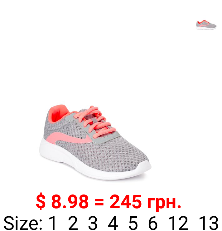 Athletic Works Everyday Mesh Lace-Up Athletic Sneaker (Little Girls & Big Girls)