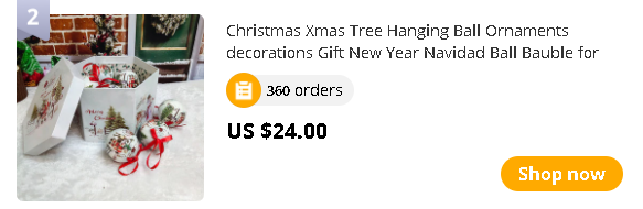 Christmas Xmas Tree Hanging Ball Ornaments decorations Gift New Year Navidad Ball Bauble for DIY Xmas Party with Belts Eazy Hang
